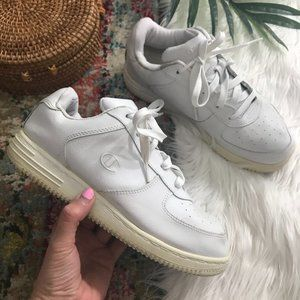 Champion White Lace Up Platform Sneakers